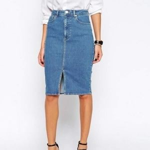 Asos Denim Pencil Skirt
